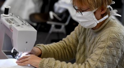Fabrication masque tissu - Belga Dirk Waem