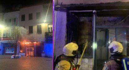 Incendie Molenbeek Place Communale - Pompiers de Bruxelles