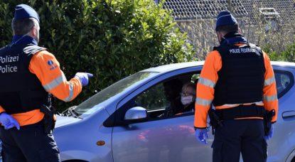 Police Contrôle Confinement La Calamine - Belga Eric Lalmand