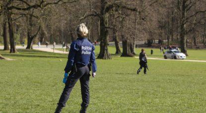 Police Parc Bois de la Cambre - COnfinement - Belga Paul-Henri Verlooy