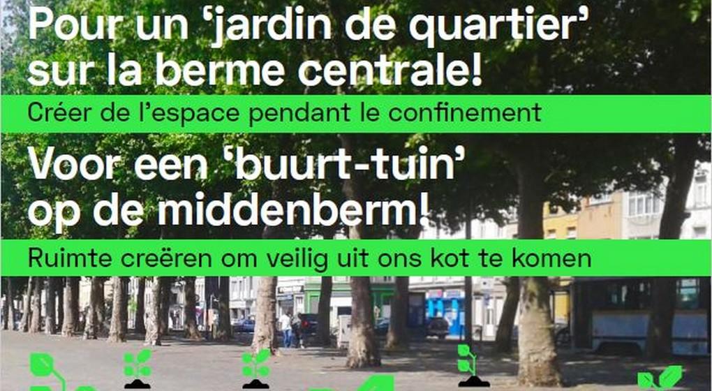 Proposition Berme Centrale - Porte d'Anderlecht