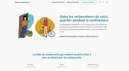 Site web - Aide aux restaurateurs