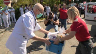 Un élan de solidarité entre les facteurs et le personnel soignant à l'hôpital Bracops