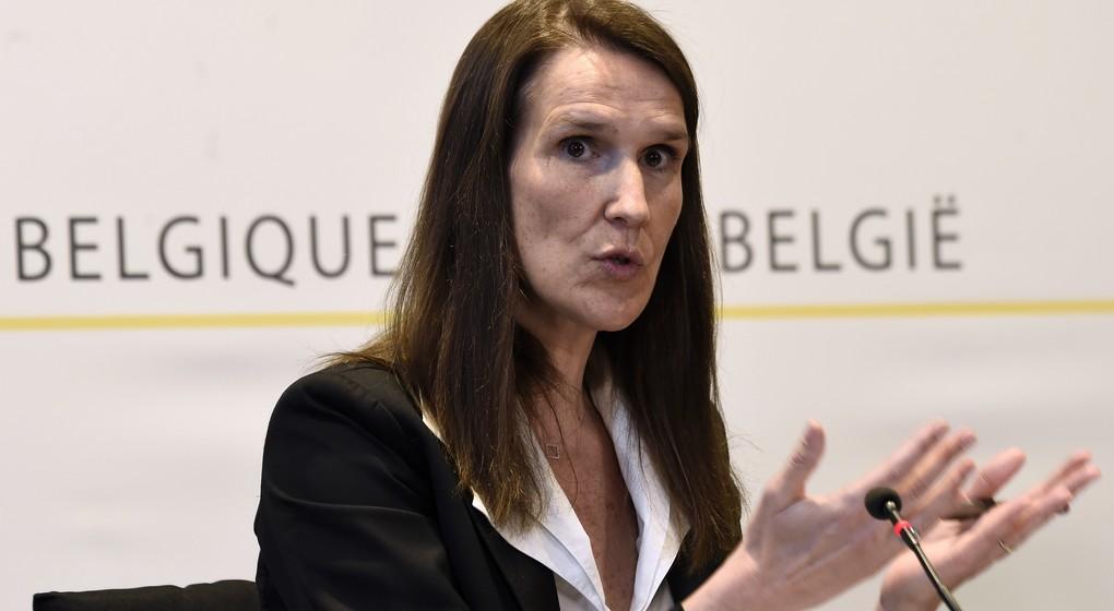 Sophie Wilmès Conférence de presse CNS - Belga Pool Didier Lebrun
