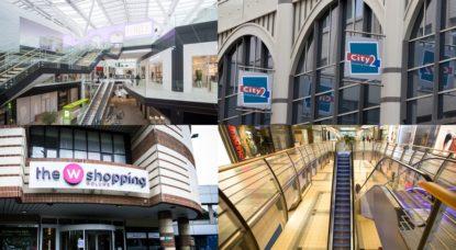 Centres commerciaux bruxellois - Illustration Belga - montage BX1