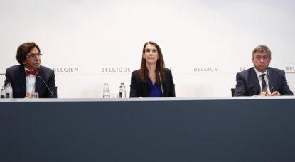 Conseil National de Sécurité - Elio Di Rupo Sophie Wilmes Jan Jambon - Belga Francois Lenoir
