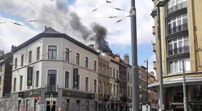 Incendie Place Flagey Ixelles - 11052020 - Twitter Jean-Marc Hans
