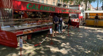 Marché Place Van Meenen Saint-Gilles Coronavirus - Thomas Dufrane BX1