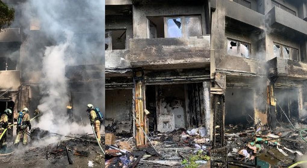 Montage Pompiers de Bruxelles - Incendie Rue Edmond Picard Ixelles - 11052020