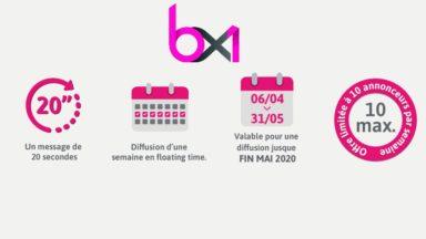 Publicité : BX1 poursuit son offre de soutien pour les PME bruxelloises