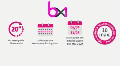Publicité Offre BX1 - Confinement