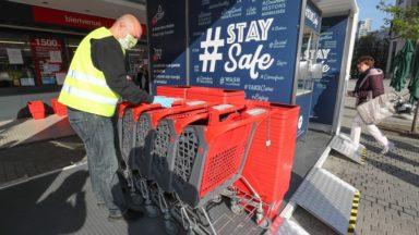 Supermarchés : les syndicats demandent la réintroduction du caddy obligatoire et du steward à l'entrée