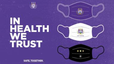 Anderlecht : le RSCA met en vente des masques buccaux aux couleurs de l'équipe