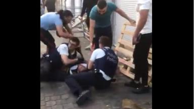 Le syndicat de police publie une vidéo montrant une agression sur policiers à Anderlecht