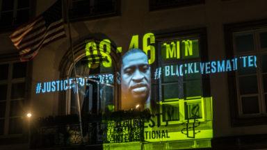Bruxelles : le portrait de George Floyd a été projeté sur l'ambassade des États-Unis