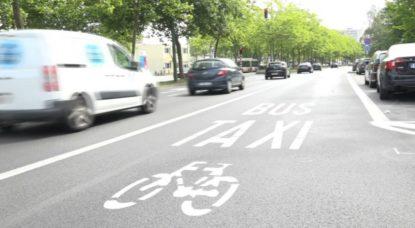 Anderlecht - Boulevard Sylvain Dupuis - Nouvelle piste cyclable bande bus - Capture BX1