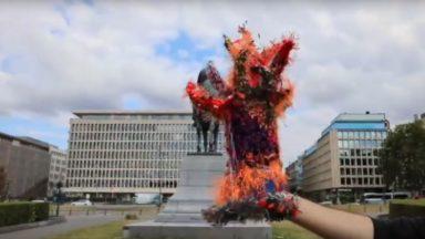 """L'artiste Stephan Goldrajch propose un """"arbre à palabres"""" à la place de la statue de Léopold II"""