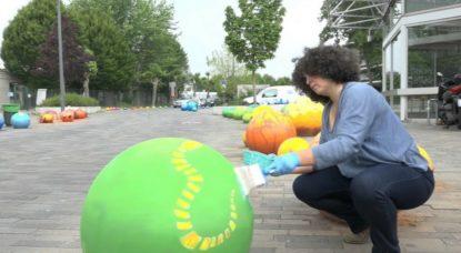 Boules colorées Osseghem - Parcours des ecoliers - BX1 Nicolas Franchomme