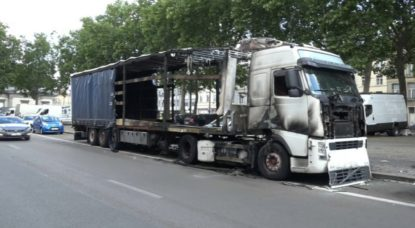 Camion abandonné Boulevard Poincaré - Capture BX1