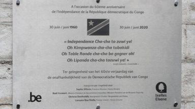 Ixelles : la plaque pour les 60 ans de l'indépendance du Congo contient plusieurs erreurs en néerlandais