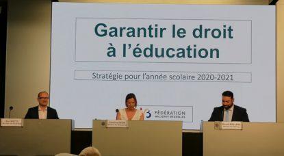 Conférence de presse Caroline Désir - Rentrée scolaire 2020 - Marine Guiet BX1