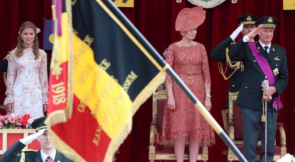 Fête nationale 2019 - Défilé militaire Couple Royal - Belga Benoit Doppagne