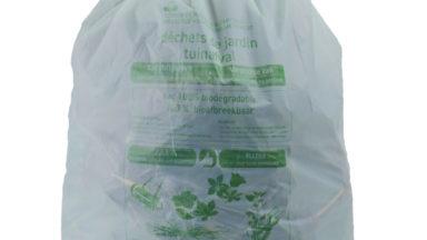 Utilisez les sacs biodégradables pour les déchets verts