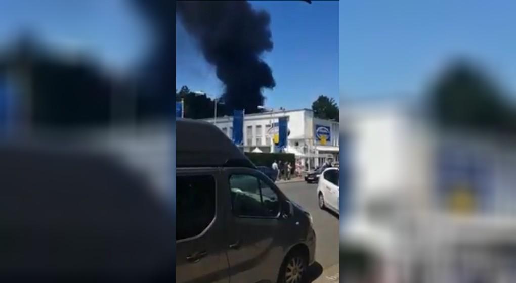 Incendie Uccle Grande épicerie Fort-Jaco 23062020 - Twitter Uccle