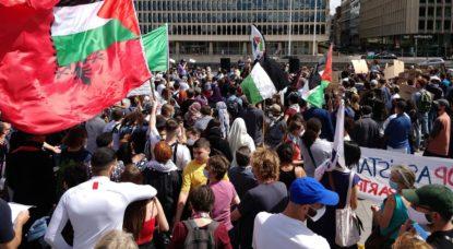Manifestation Pro-Palestine Place du Trône Bruxelles - Belga Antony Gevaert