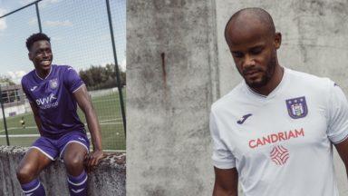 Le RSC Anderlecht présente ses nouveaux maillots pour la saison 2020-2021
