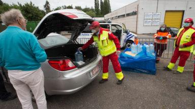 A Bruxelles, de nombreux sans-abris aidés par la Croix-Rouge pendant le confinement
