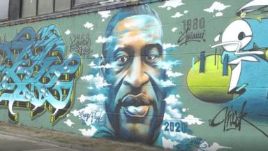 Grimbergen : une fresque en hommage à George Floyd