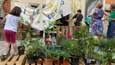 Schaerbeek : des riverains se rassemblent pour honorer le jardin citoyen disparu