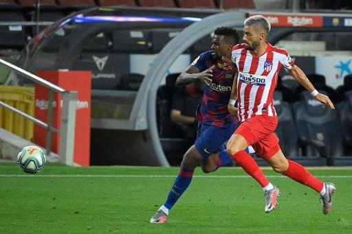 La Liga Nouveau Faux Pas De Barcelone Accroch Par L Atl tico Madrid D un Tr s Bon Carrasco BX