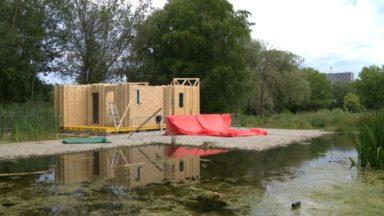 Anderlecht : une base nautique prend forme aux étangs de la Pede