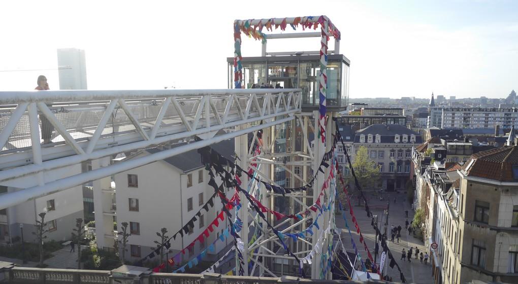 Ascenseurs des Marolles Place Poelaert - Belga Ophélie Delarouzée