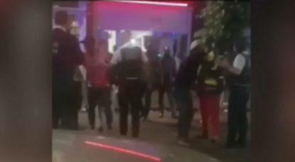 Bagarre Police Anderlecht 13 juillet 2020 - Capture Belga Video