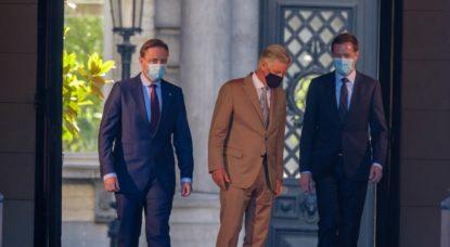 Bart De Wever Paul Magnette - Formation Gouvernement fédéral - Belga Nicolas Maeterlinck