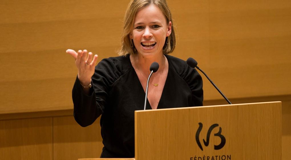 Caroline Désir - Ministre de l'Education Parlement Fédération Wallonie Bruxelles - Belga Nicolas Maeterlinck