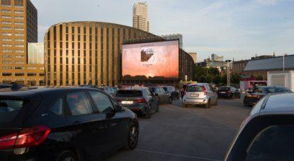 Cinéma drive-in Movie Drive Tour et Taxis - Belga Nicolas Maeterlinck