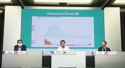 Conférence de presse Centre de Crise Coronavirus Sciensano - Belga Thierry Roge