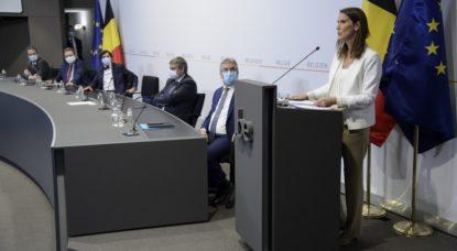 Conseil National de Sécurité 15 juillet 2020 - Sophie Wilmès - Belga Pool Christophe Licoppe