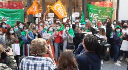 Grève Camaieu Rue Neuve - Photo CNE