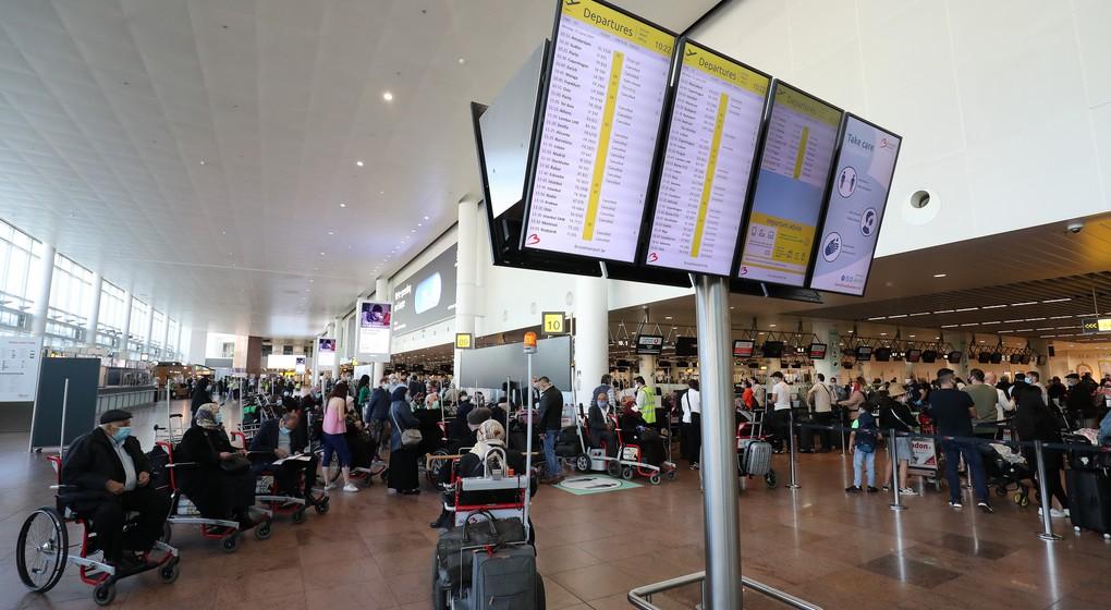 Hall de l'aéroport Zaventem Brussels Airport Post Covid-19 - Juin 2020 - Belga Bruno Fahy