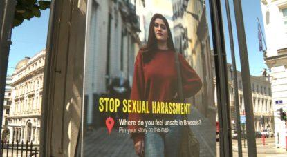 Harcèlement de rue Panneau Bruxelles - Capture BX1