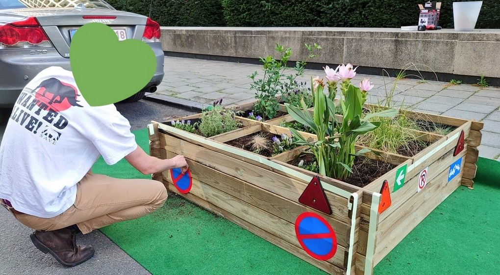 Jardin citoyen Citizen Garden Rue d'Egmont - Bruxelles - Capture Twitter Egmonting