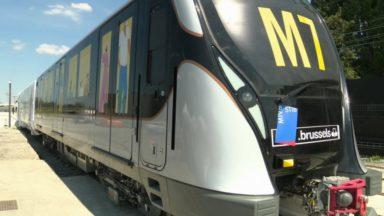 La Stib présente sa nouvelle rame de métro M7, sur les rails dès 2021