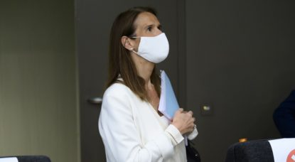 Masque Protection Coronavirus Sophie Wilmes - Belga Pool Christophe Licoppe