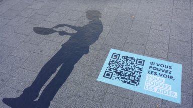 Bruxelles : des ombres devant la gare centrale pour rendre l'esclavage moderne visible