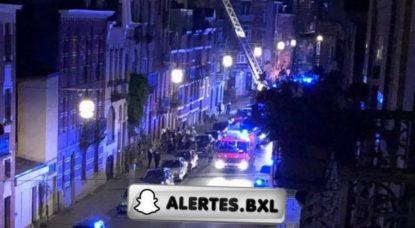 Pompiers - Incendie Rue des Paquerettes Schaerbeek - Facebook Alertes Controles de Police Infos Bruxelles